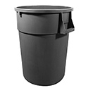 Continental 55-Gallon Huskee Gray Round Trash Container