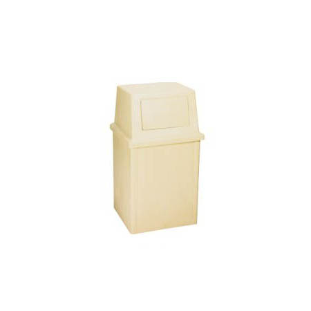 Continental 35-Gallon King Kan Beige Trash Container with Lid