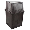 Continental 35-Gallon King Kan Brown Trash Container with Lid