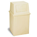 Continental 50-Gallon King Kan Beige Trash Container with Lid