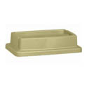 Lid for Continental 23-Gallon Wall Hugger Beige Trash Container