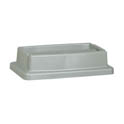 Lid for Continental 23-Gallon Wall Hugger Gray Trash Container