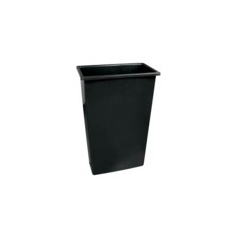 Continental 23-Gallon Wall Hugger Black Trash Container