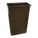 Continental 23-Gallon Wall Hugger Brown Trash Container