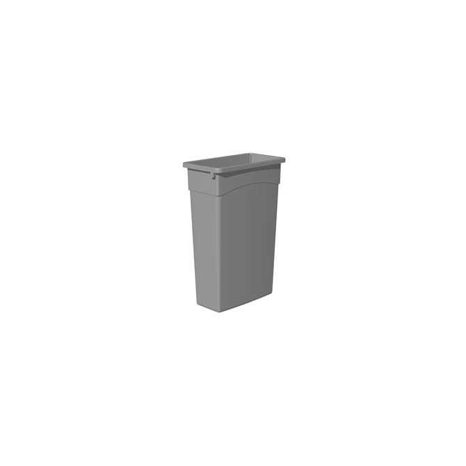 Gray 23 Gallon Trash Container