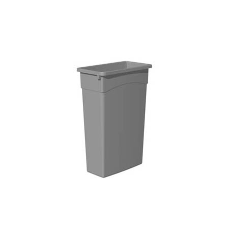 Continental 23-Gallon Wall Hugger Gray Trash Container