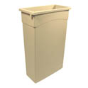 Continental 23-Gallon Wall Hugger Beige Trash Container