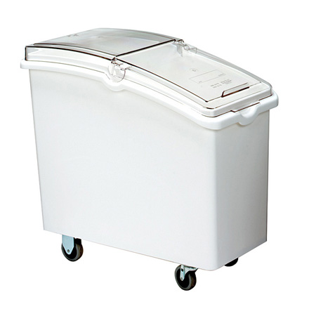 "Continental 21-Gallon Mobile Ingredient Bin with Clear Hinged Lid 12-3/4""W"