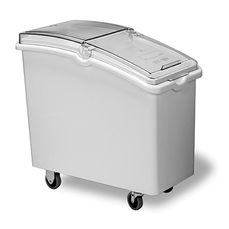 "Continental 26-Gallon Mobile Ingredient Bin with Clear Hinged Lid 15-1/4""W"