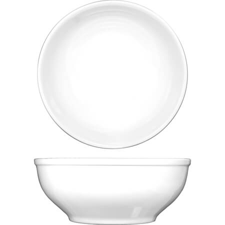 ITI Bristol 19 oz. Bright White Nappie Bowl 6""
