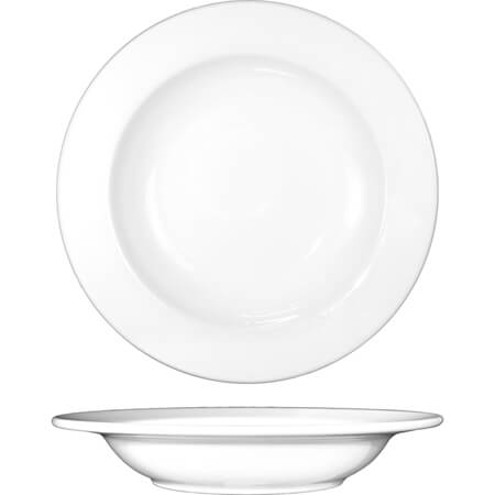 ITI Bristol 12 oz. Bright White Deep Rim Soup Bowl