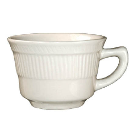 ITI 7 oz. American White Ribbed Edge Cup