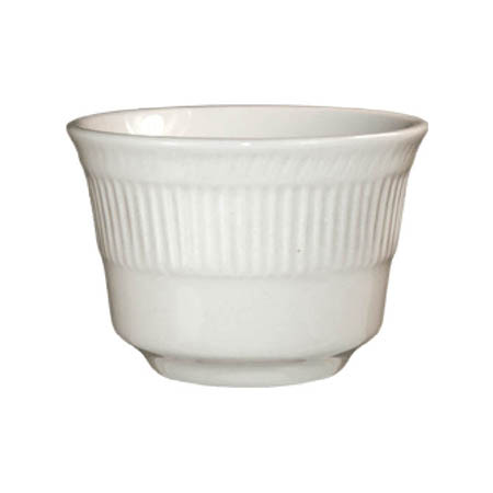 ITI Athena 7 oz. American White Ribbed Edge Bouillon Cup