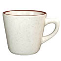 ITI Granada 7 oz. Brown Speckled Tea Cup