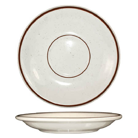 "ITI Granada 6"" Brown Speckled Saucer"