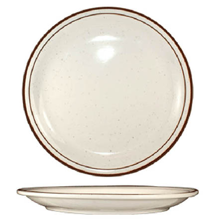 "ITI Granada 9"" Brown Speckled Plate"