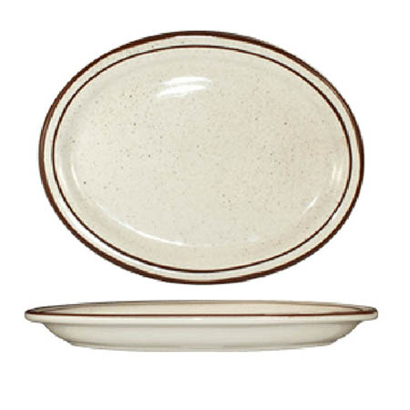 "ITI Granada 9-3/4"" Brown Speckled Platter"