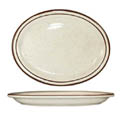ITI Granada 9-1/2\x22 Brown Speckled Platter