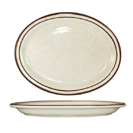 "ITI Granada 11-1/2"" Brown Speckled Platter"
