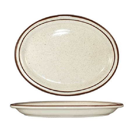 "ITI Granada 13-1/4"" Brown Speckled Platter"