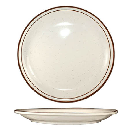 "ITI Granada 10-1/2"" Brown Speckled Plate"