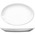 ITI Dover 13-1/4\x22 European White Rolled Edge Platter