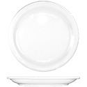 ITI Brighton 9\x22 European White Narrow Rim Plate