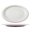 ITI Brighton 13-1/8\x22 European White Narrow Rim Platter