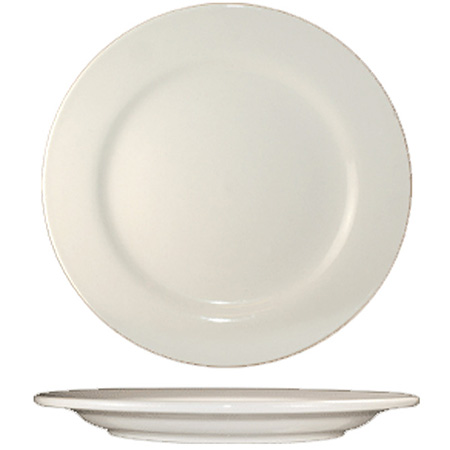 "ITI Roma 9"" American White Rolled Edge Plate"