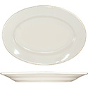 ITI Roma 9-3/8\x22 American White Rolled Edge Platter