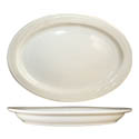 "ITI York 11"" x 7-5/8"" American White Rolled Edge Platter"