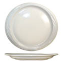 "ITI York 10-7/8"" x 10"" American White Rolled Edge Platter"
