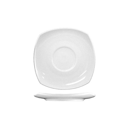 "ITI Quad 5-3/4"" European White Saucer"