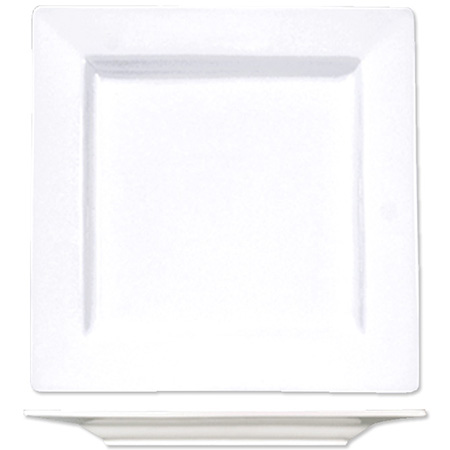 "ITI Elite 6-1/4"" Bright White Square Plate"