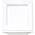 ITI Elite 6-1/4\x22 Bright White Square Plate