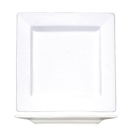 "ITI Elite 9-1/8"" Bright White Square Plate"