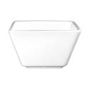 ITI Elite 8 oz. Bright White Square Fruit Bowl