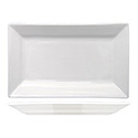 ITI Elite 11\x22 x 5-1/8\x22 Bright White Rectangle Platter