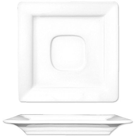 "ITI Elite 5-7/8"" Bright White Square Saucer"