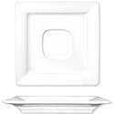 ITI Elite 5-7/8\x22 Bright White Square Saucer