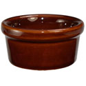 ITI 3.5 oz. Brown Smooth-Sided Ramekin