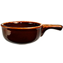 ITI 12 oz. Brown/Beige Onion Soup Crock with Handle