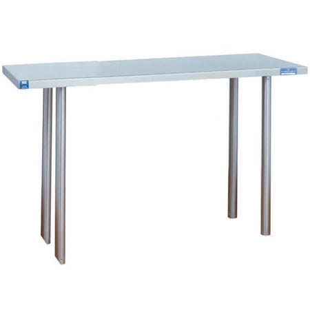 "Duke Stainless Steel Over Shelf for Duke Worktables 36""W x 10""D x 18""H"