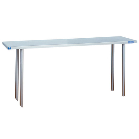 "Duke Stainless Steel Over Shelf for Duke Worktables 60""W x 10""D x 18""H"