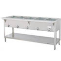 Duke 5-Well Liquid Propane Gas Hot Food Table 72-3/8\x22W