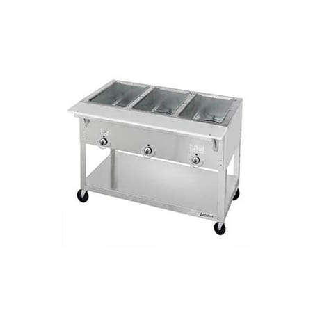 "Duke 3-Well Portable 115V Electric Hot Food Table 44-3/8""W"