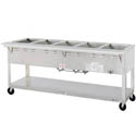 "Duke 5-Well Portable 208V Electric  Hot Food Table 72-3/8""L"