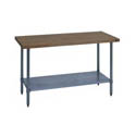 Hardwood Maple Top Work Tables with Galvanized Legs & Undershelf