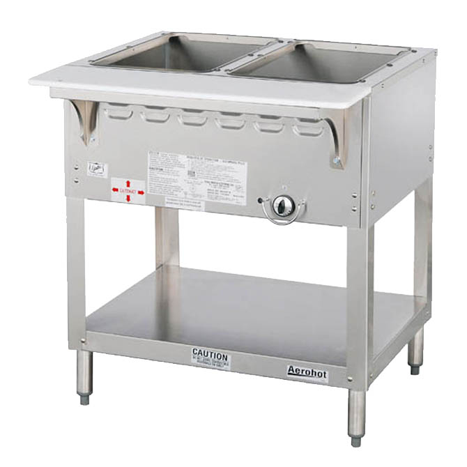Duke 2 Well Natural Gas Wet Bath Hot Food Table 30 3 8w