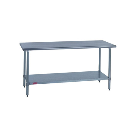 "Duke Stainless Steel Work Table with Adjustable Undershelf 60""L x 30""W x 36""H"
